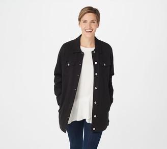 Denim & Co. Comfy Knit Long Jean Jacket