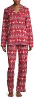 North Pole Trading Co. Llama Family Coat Front Family Womens 2-pc. Long Sleeve Pant Pajama Set