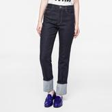 Paul Smith Women's Indigo Straight-Leg Turn-Up Jeans