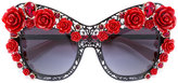 Dolce & Gabbana lace bouquet sunglasses - women - Acetate/metal/glass - One Size