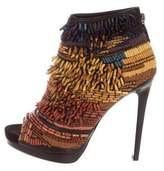 Barbara Bui Embellished Peep-Toe Ankle Boots