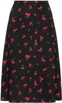 HVN Wiona cherry print skirt