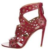 Alaia Laser Cut Leather Sandals