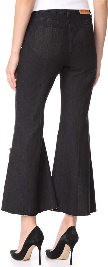 Sjyp Cutoff Wide Jeans