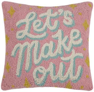"""Peking Handicraft, Inc. Let's Make Out Hook Pillow, 16""""x16"""""""
