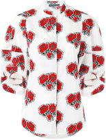 Alexander McQueen poppy print shirt - women - Cotton - 44