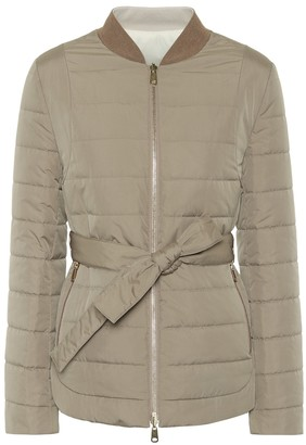 Brunello Cucinelli Reversible cashmere-blend down jacket