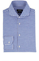 Barneys New York Men's Gingham Slub-Weave Shirt-NAVY