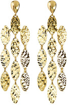Argentovivo 18K Gold Plated Sterling Silver Oval Chandelier Earrings