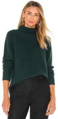 White + Warren Luxe Textured Mockneck Sweater