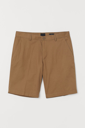 H&M Slim Fit Cotton Shorts - Beige