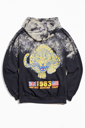 Urban Outfitters Def Leppard Bleach Dye Hoodie Sweatshirt