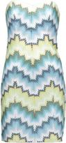 Missoni Strapless crochet-knit mini dress