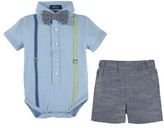 Andy & Evan Infant Boy's Shirtzie Bodysuit & Shorts Set