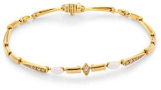 Etho Maria Noble 18K Yellow Gold, Brown Diamond & Ceramic Bracelet