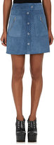 Maison Margiela Women's Suede A-Line Miniskirt