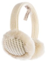 UGG Shearling-Trimmed Knit Earmuffs w/ Tags