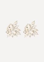 Bebe Crystal Flower Earrings