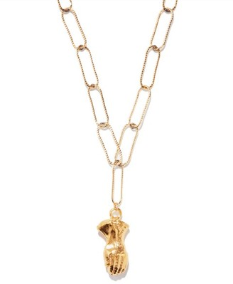 Alighieri Hand Of Protection Charm Gold-plated Necklace - Gold