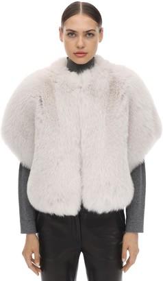 Blancha Short Sleeves Shadow Fur Jacket