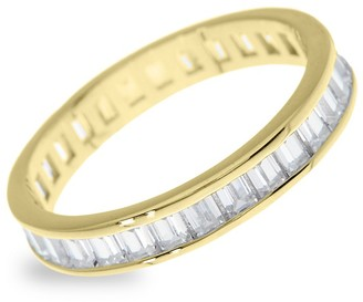 Sterling Forever Gold Vermeil Sterling Silver Cubic Zirconia Stackable Ring