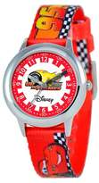 Cars Boys' Disney Stainless Steel Time Teacher Watch - Red