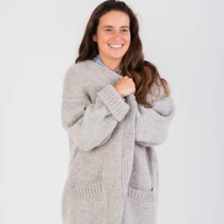 Näz Naz - One Size Grey Wool/Alpaca Cardigan - ONESIZE | polyester | grey - Grey/Grey
