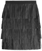 DAY Birger et Mikkelsen Chaabi Fringed Leather Skirt