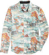 Lrg Men's Paint By Numbers Graphic-Print Flannel Shirt