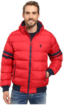 U.S. Polo Assn. Hooded Bomber with Sleeve Stripes