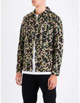 Sandro Camouflage-pattern cotton shirt