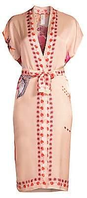 Gottex Swim Women's Floral Tie-Waist Cotton Silk Kimono