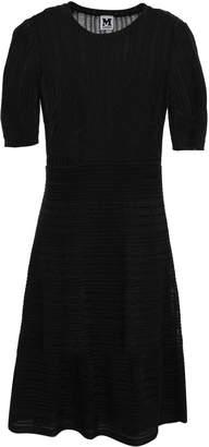 M Missoni Flared Crochet-knit Cotton-blend Mini Dress