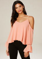 Bebe Lisa Cold Shoulder Top