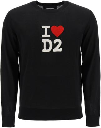 DSQUARED2 I Love D2 Inatsia Sweater