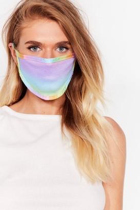 Nasty Gal Womens Hello Sunshine Rainbow Fashion Face Mask - Yellow - One Size