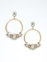 Banana Republic Geo Burst Statement Hoop Earrings