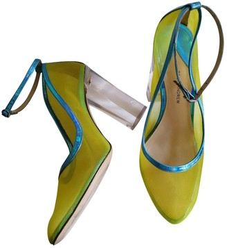 Paul Andrew Yellow Plastic Heels