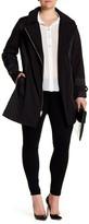 Via Spiga Front Zip Belted Coat (Plus Size)