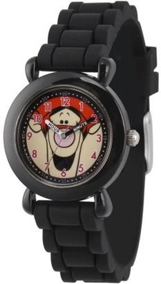 Disney All About Me Portfolio Tigger Girls' Black Plastic Time Teacher Watch