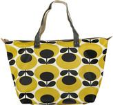 Orla Kiely Oval Stem Zip Shopper - Mustard