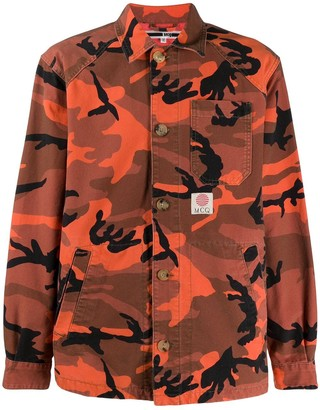 McQ camouflage print multi-pocket shirt