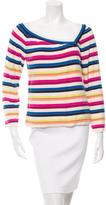Sonia Rykiel Striped Asymmetrical Sweater