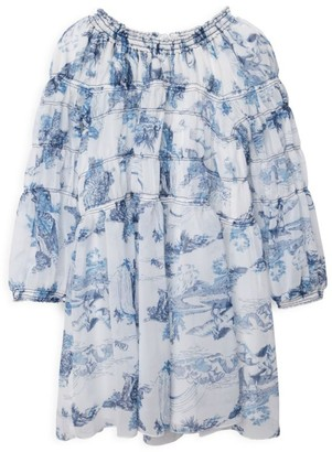 Chloé Little Girl's & Girl's Gathered Toile Du Jouy Crepe Dress