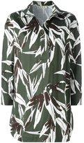 Marni Bamboo print tunic top - women - Cotton/Linen/Flax - 42