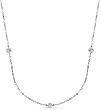 Memoire 18K 1.50 Ct. Tw. Diamond By The Yard Necklace