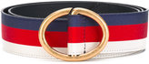 Gucci striped belt - unisex - Cotton/Leather/metal - 90