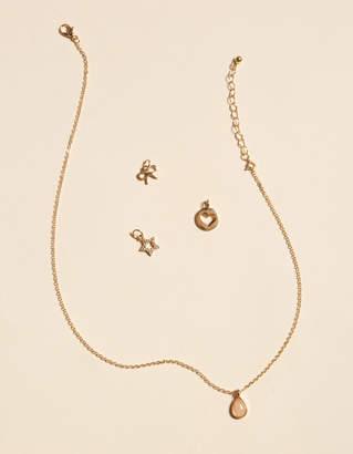 West Of Melrose Rose Quartz Charm Set Necklace