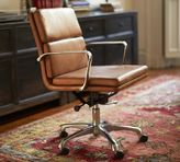 Pottery Barn Nash Leather Swivel Desk Chair