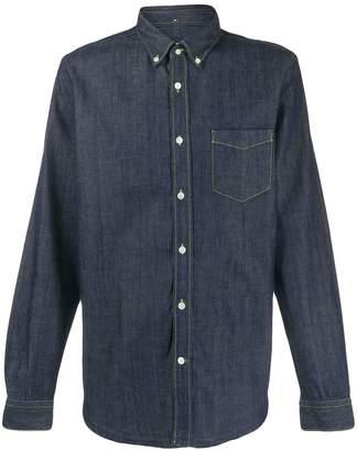 Closed long-sleeved denim shirt